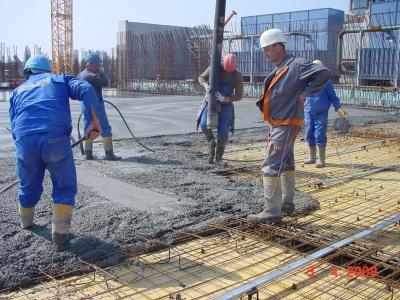 turnarea betonului inainte de elicopterizare